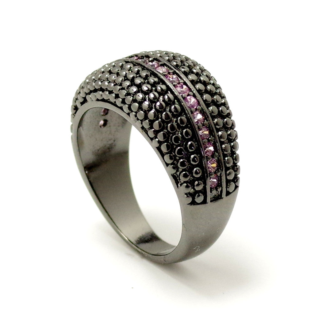 Black Beauty In Pink Ring