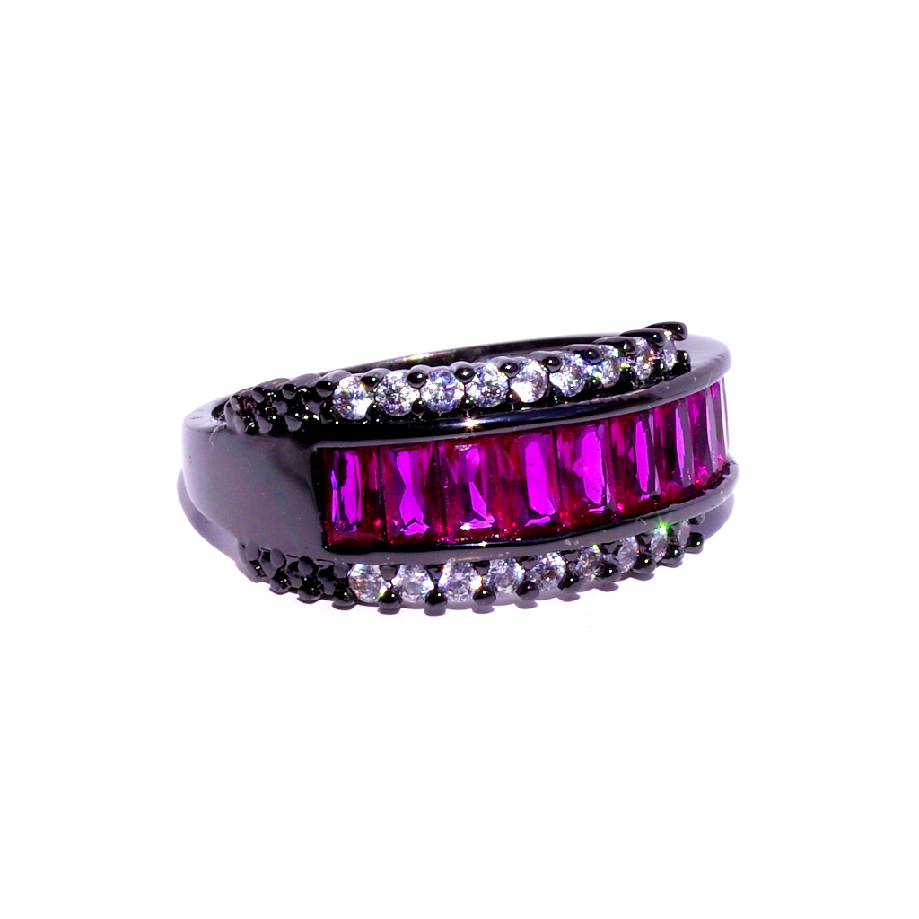 Black & Hot Pink Ring