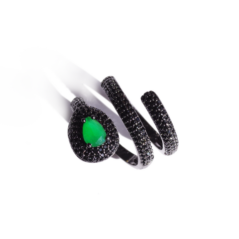Emerald Green Triangle Stud Earrings