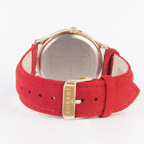 Red Suede Strap - Dialmaster Collection