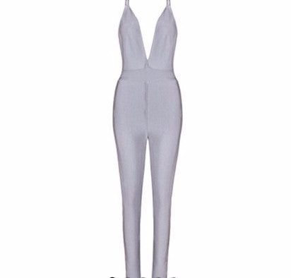 PLATINUM LOVE bandage jumpsuit