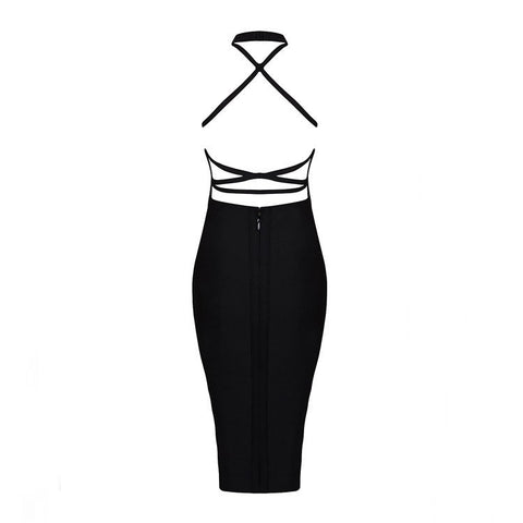 DOWN FOR YOU bandage dress black