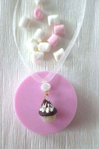 Winter glam cupcake necklace