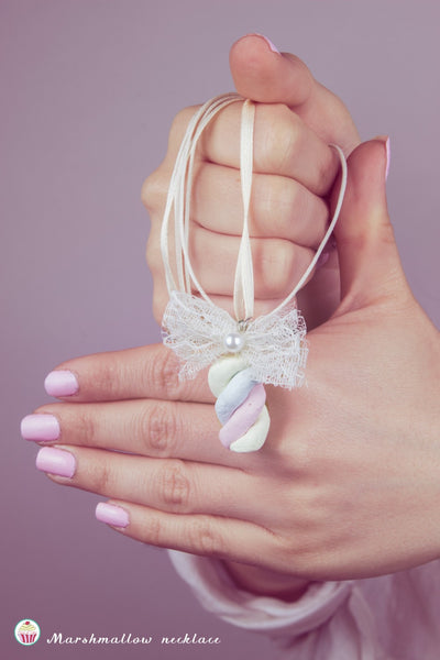 Miniature Marshmallow necklace