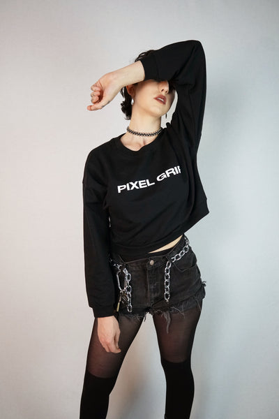 Pixel Grip Crop Top Sweat