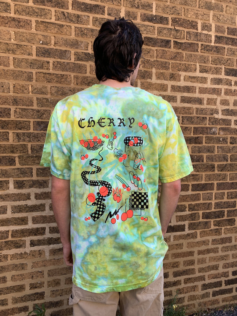 "Paul Cherry ""Neon Cherry"" Dyed Tee"