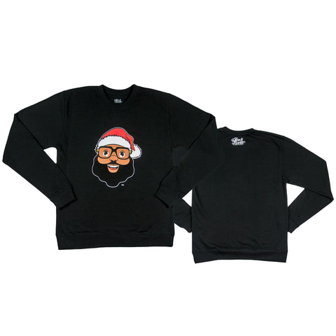 Black Santa Signature Sweatshirt - Black