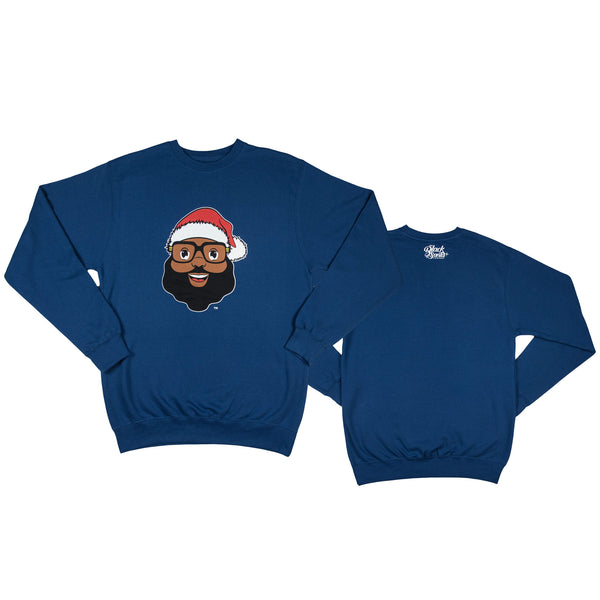 *Limited Edition* Black Santa Sweatshirt - Royal Blue - The Black Santa Company