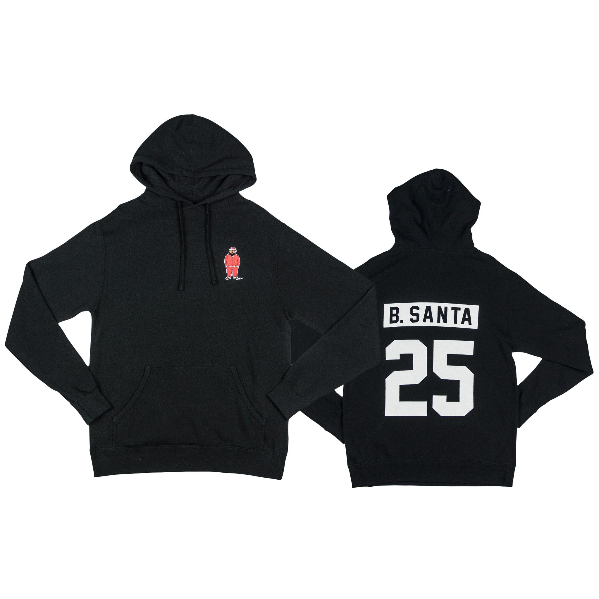 Limited Edition Black Santa Body Logo Hoodie
