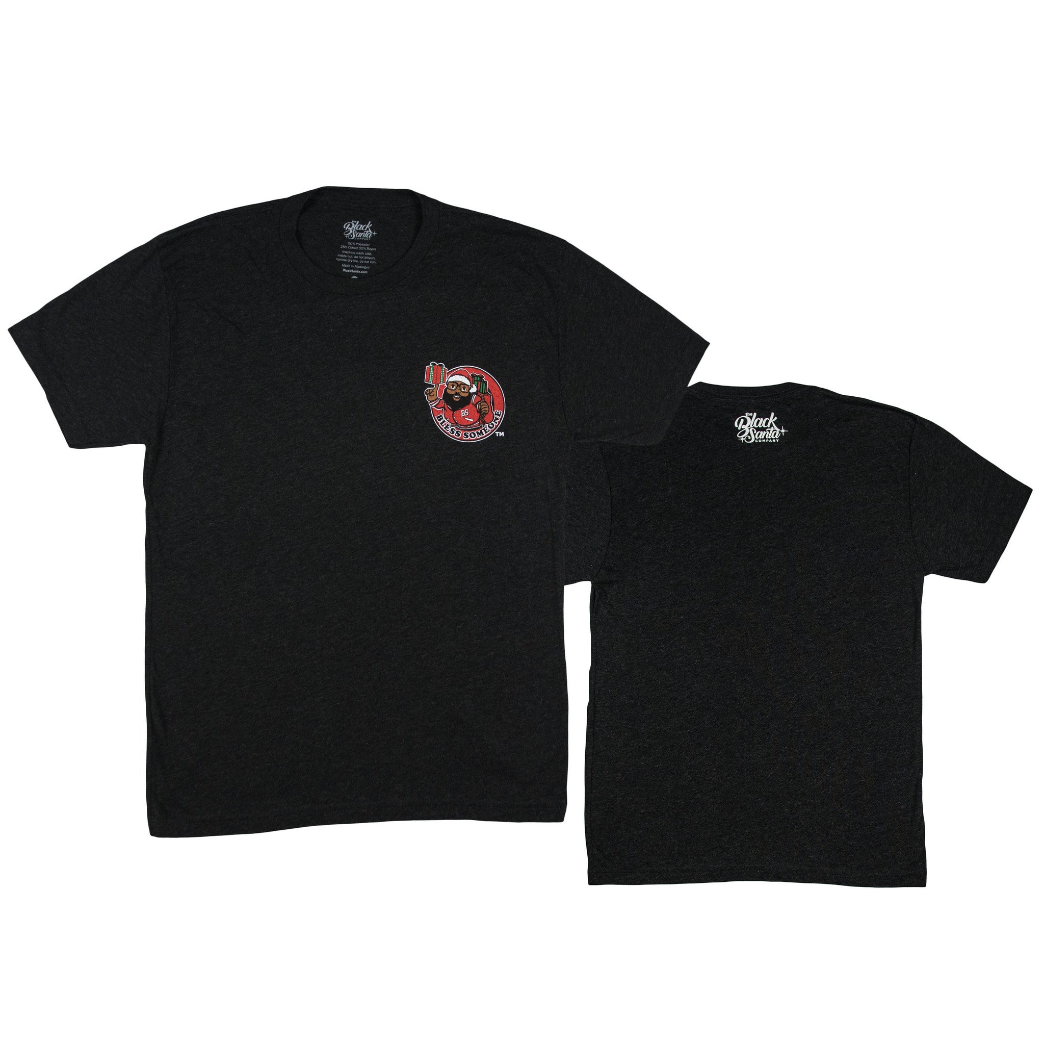 Black Santa Bless Circle Tee - Vintage Black - The Black Santa Company