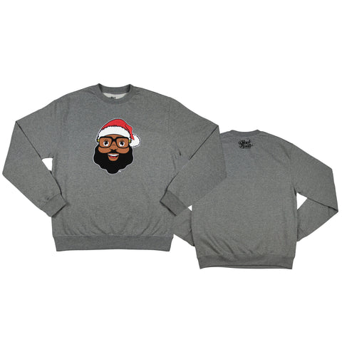 Black Santa Signature Sweatshirt - Light Heather Gray