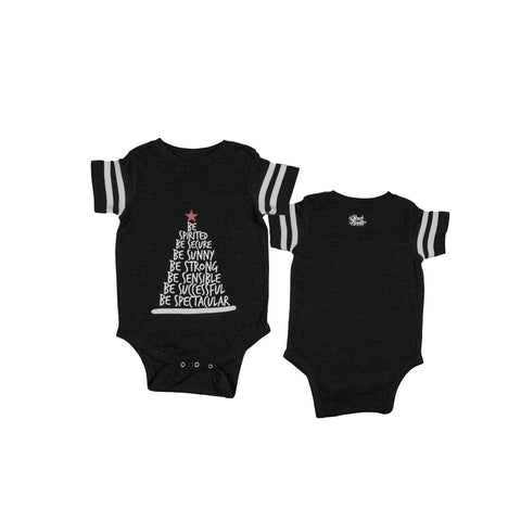 Be Tree Baby Onesie - Vintage Black - The Black Santa Company