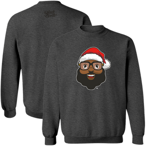 Black Santa Logo Sweater - Dark Heather - The Black Santa Company