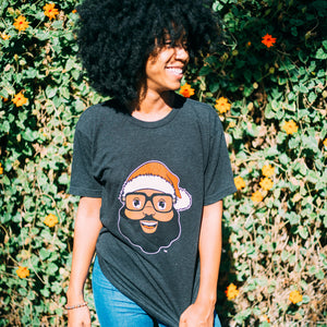Black Santa Logo Tee - Dark Heather - The Black Santa Company