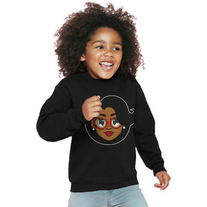 Mrs. C. Kids Sweater - Black - The Black Santa Company