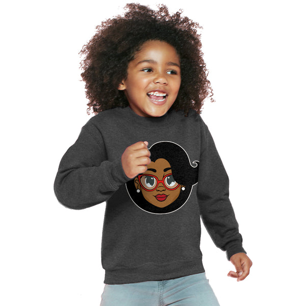 Mrs. C. Kids Sweater - Dark Heather - The Black Santa Company