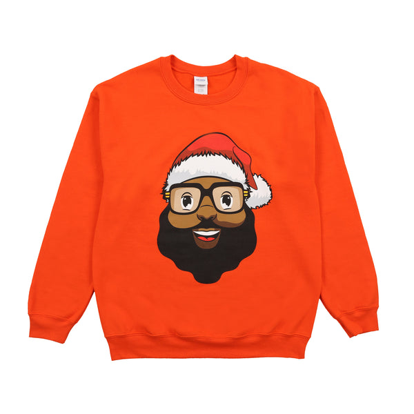 *Limited Edition* Black Santa Sweatshirt -  Classic Orange - The Black Santa Company