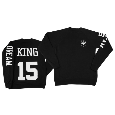 Black Santa King Sweatshirt - Black - The Black Santa Company