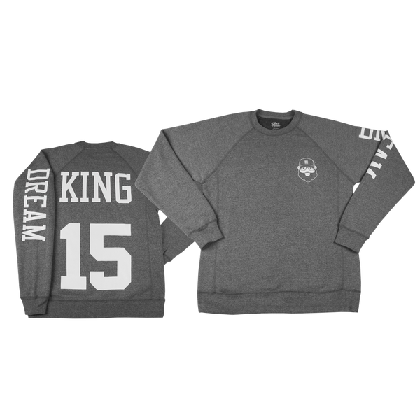 Black Santa King Sweatshirt - Heather Gray - The Black Santa Company