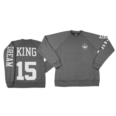 Black Santa King Sweatshirt - Heather Gray