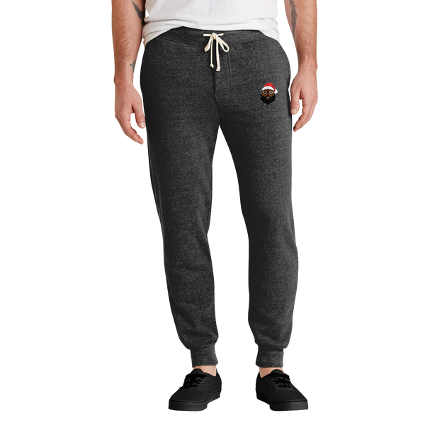 Black Santa Eco Fleece Jogger