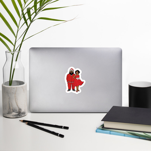 Black Santa & Mrs. C Sticker