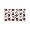 Classic Black Santa & Mrs. C Throw Pillow