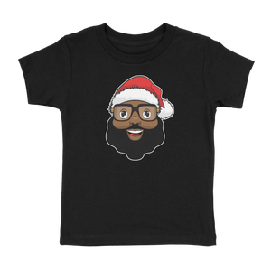 Classic Black Santa Toddler Crew Neck T-Shirt