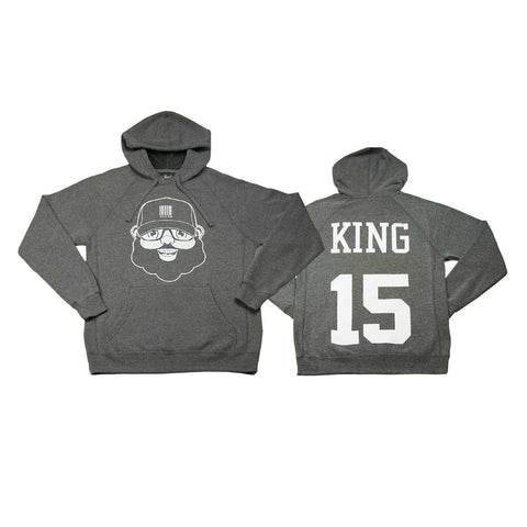 Black Santa King Hoodie - Heather Gray