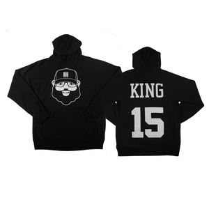 Black Santa King Hoodie - Black - The Black Santa Company