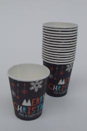 MERRY CHRISTMAS PAPER CUP - The Black Santa Company