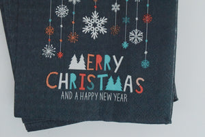MERRY CHRISTMAS NAPKINS - LARGE - The Black Santa Company