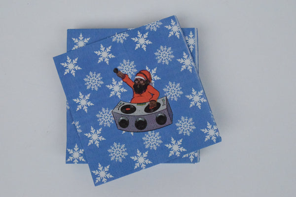 DJ SANTA PAPER NAPKINS - SMALL - The Black Santa Company