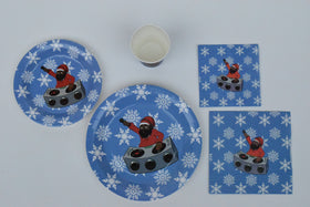 DJ Black Santa Picnic Table Set