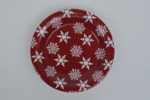 THE RED WITH WHITE SNOW FLAKES PICNIC TABLE SET - The Black Santa Company