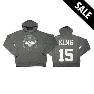 Black Santa King Hoodie - Heather Gray - The Black Santa Company