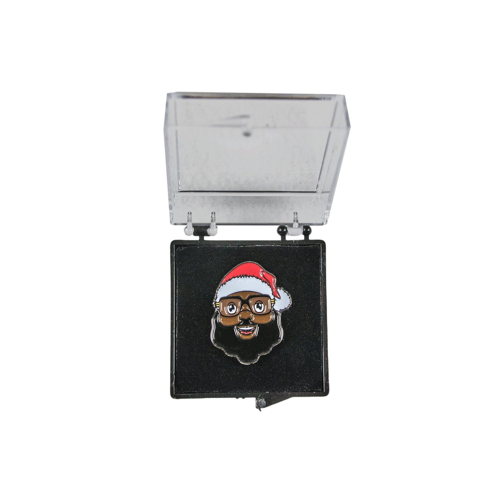 Black Santa Face Lapel Pin