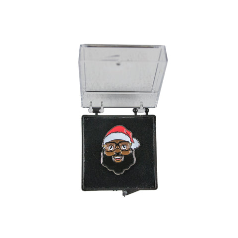 Black Santa Face Lapel Pin - The Black Santa Company