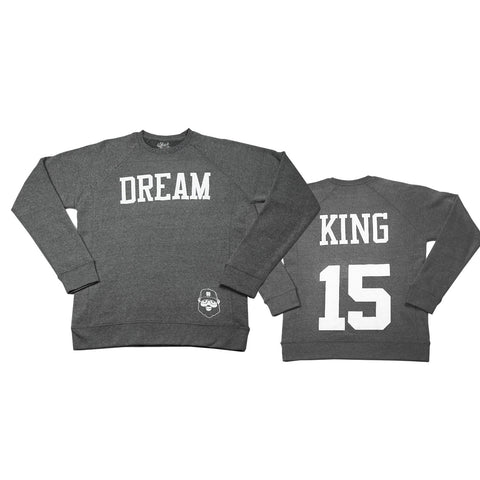 Signature Dream King Sweatshirt - Heather Gray - The Black Santa Company