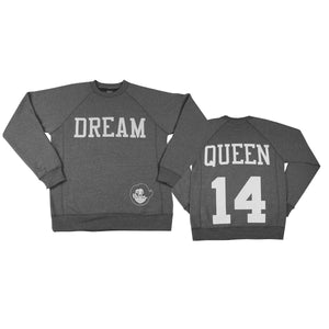 Signature Dream Queen Sweatshirt - Heather Gray - The Black Santa Company