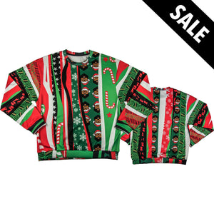 *Limited Edition* Black Santa Ugly Christmas Pullover