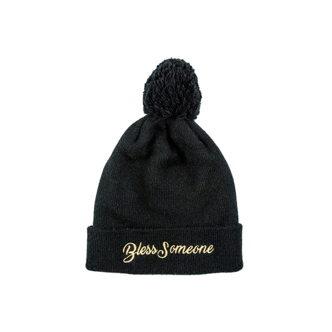 Bless Someone Beanie - Black - The Black Santa Company
