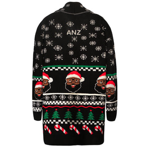 BLACK SANTA COMPANY CARDIGAN BLACK - The Black Santa Company