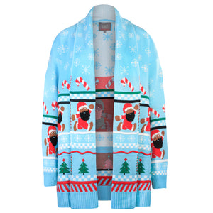 BLACK SANTA COMPANY CARDIGAN BLUE - The Black Santa Company