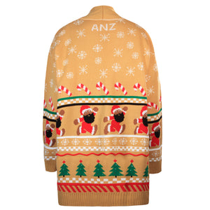 BLACK SANTA COMPANY CARDIGAN GOLD - The Black Santa Company