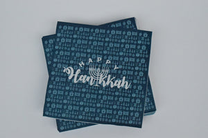 Happy Hanukah Large Napkin - The Black Santa Company