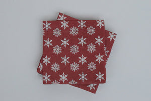 Star and Flakes Small Napkin - The Black Santa Company