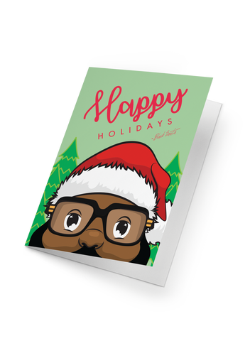 Black Santa Holiday Card
