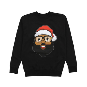 Santa Face Adult Crewneck - The Black Santa Company