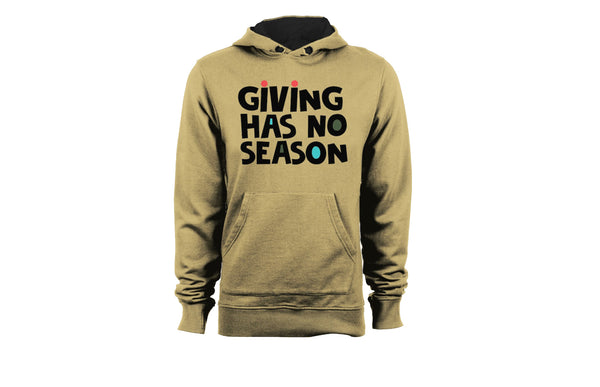 Black Santa Giving Has No Season Hoodie - Khaki - The Black Santa Company